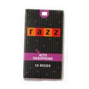 RAZZ CO ALTO SAXOPHONE 2.5 REEDS BOX OF 10 SAX REEDS