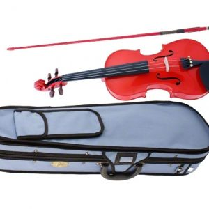 STENTOR S2444 4/4 FULL SIZE STUDENT VIOLIN OUTFIT HARLEQUIN RED - SET UP IN STORE