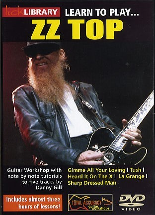 lick library learn to play zz top electric guitar dvd south coast music. Black Bedroom Furniture Sets. Home Design Ideas