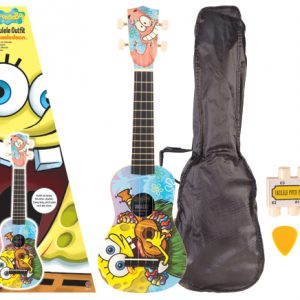 SPONGEBOB SQUAREPANTS ALOHA UKULELE PACK + BAG + ACCESSORIES