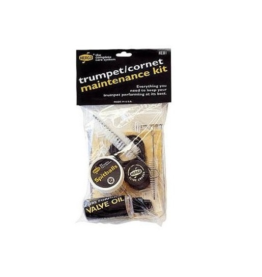 HERCO TRUMPET AND CORNET CARE / MAINTENANCE KIT w ACCESSORIES