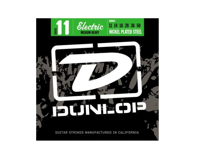 JIM DUNLOP ELECTRIC GUITAR STRINGS MEDIUM HEAVY 11-50 GAUGE STRING SET