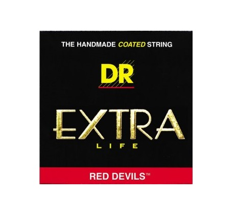 11 - 50 DR RED DEVILS HANDMADE RED COATED LONG LIFE ELECTRIC GUITAR STRINGS
