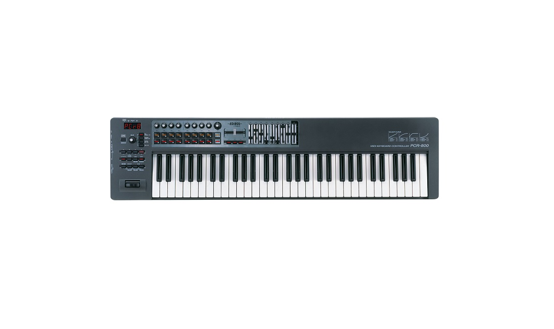 EDIROL by ROLAND PCR800 MIDI CONTROLLER KEYBOARD 61KEY VELOCITY SENSITIVE MAC/PC