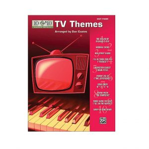10 FOR 10 SHEET MUSIC TV THEMES EASY PIANO SOLO SONG BOOK