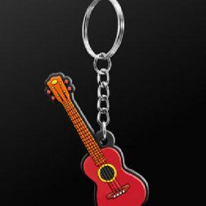 UKULELE GUITAR KEY RING CHAIN GIFT FOR UKE PLAYERS KEYRING KEYCHAIN NEW