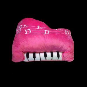 Pink EMBROIDERED PIANO KEYBOARD CUSHION 35x30cm PLUSH STUFFED DECORATIVE TOY