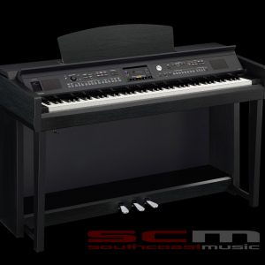 YAMAHA CVP605B Digital Piano black walnut finish with matching bench