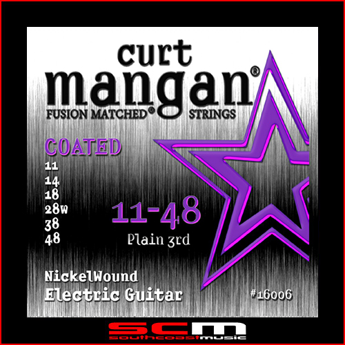Curt Mangan Boutique Fusion Matched Nickel Wound COATED electric guitar string set 11–48 Made in the USA