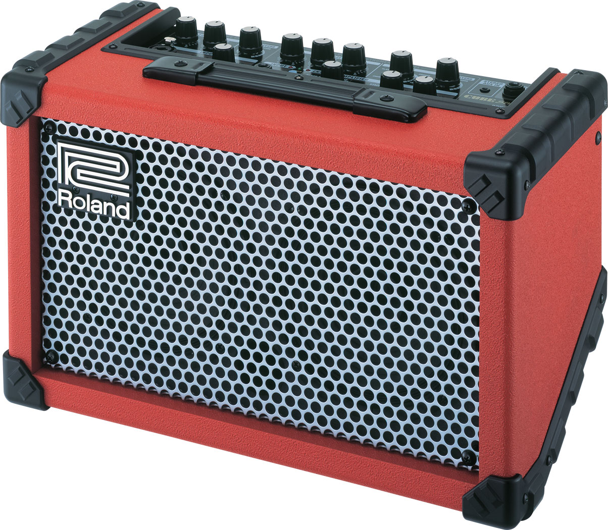 red roland cube street busker battery guitar amp amplifier with mic input warranty south. Black Bedroom Furniture Sets. Home Design Ideas