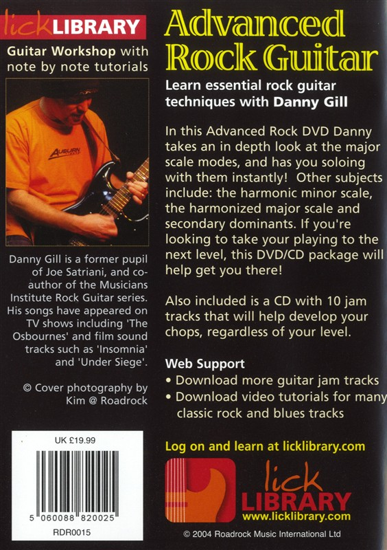 LEARN TO PLAY ADVANCED ROCK GUITAR LICK LIBRARY DVD  TUITIONAL
