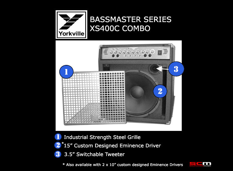 "BASS AMPLIFIER Yorkville XS400TCCE Bassmaster Series  400 WATT 2 x 10"" Combo  - ON SALE!"