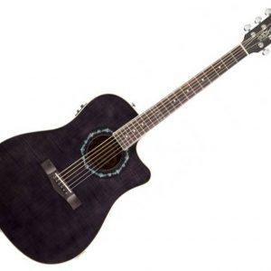 Fender T-Bucket 300CE V2 Black Trans Flame ACOUSTIC GUITAR
