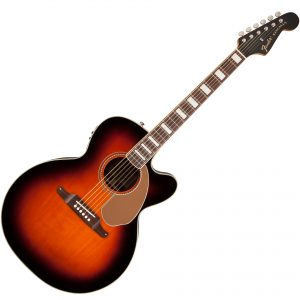 fender Kingsman 3 tone sunburst acoustic electric guitar
