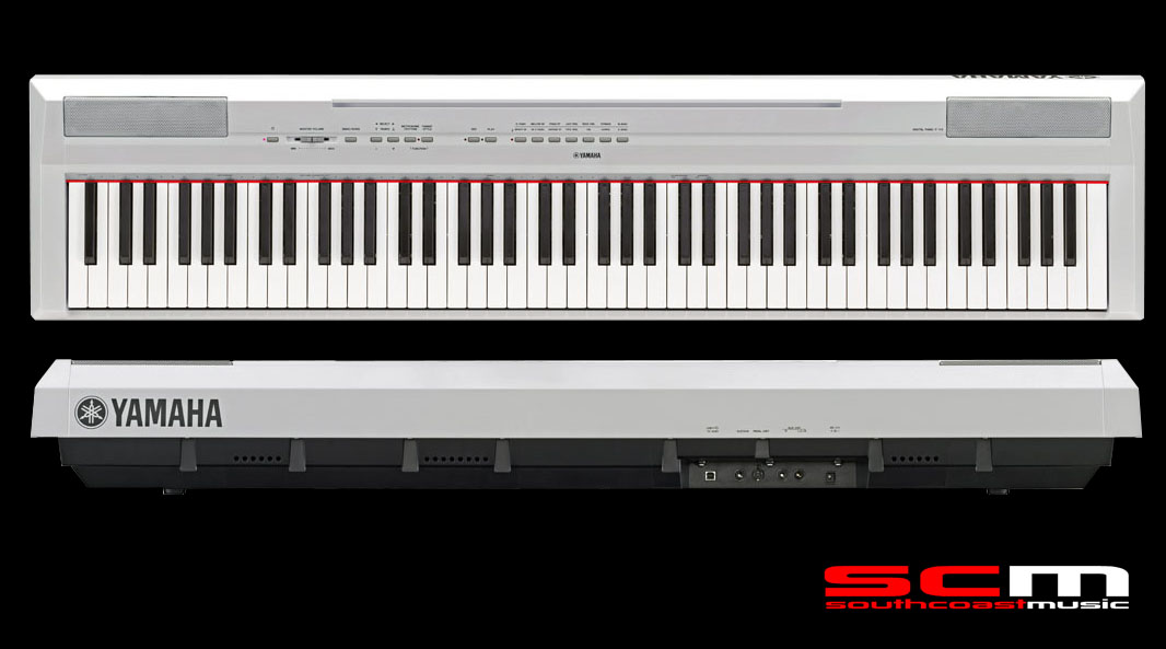 Yamaha p115 88 key digital piano white with cf grand for White yamaha piano