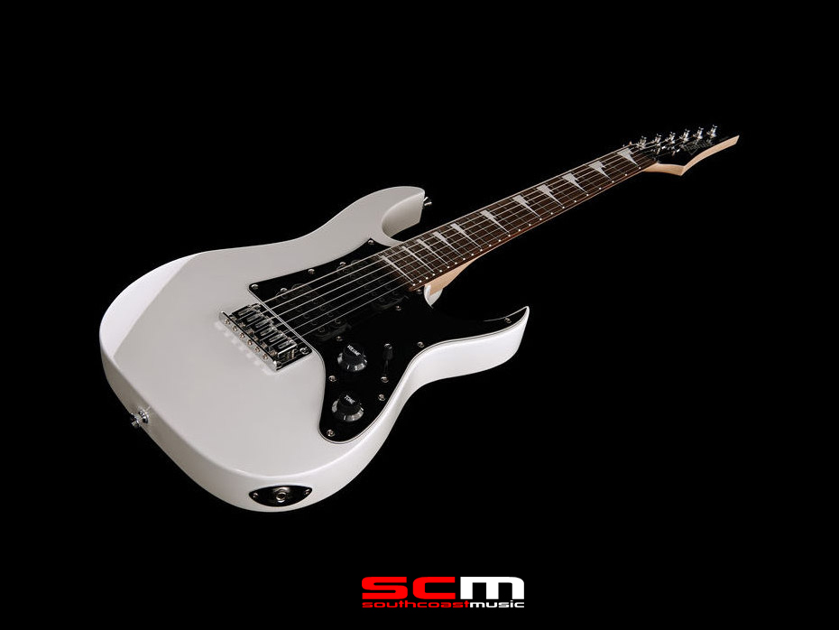 ibanez grgm21 mikro short scale electric guitar white south coast music. Black Bedroom Furniture Sets. Home Design Ideas