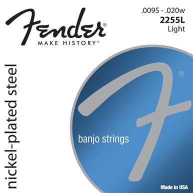 Fender 0732255003 Banjo String Set Nickel Plated Steel .95-20 Strings
