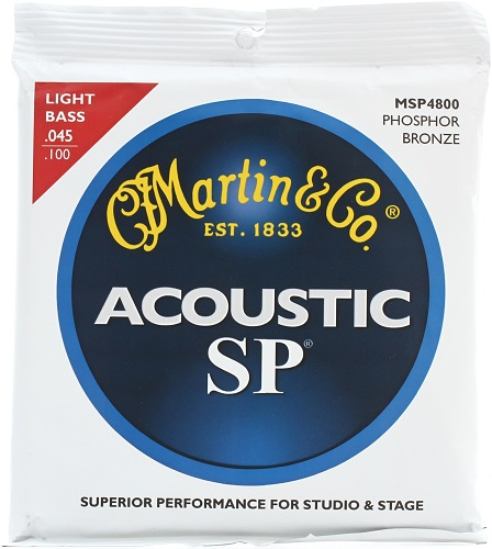 Martin MSP 4800 Acoustic Bass Guitar Strings Set 45 to 100 Phosphor Bronze Light