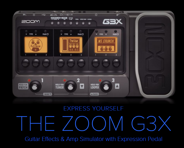 ZOOM G3X AUDIO INTERFACE ELECTRIC GUITAR MULTI FX PEDAL & AMP SIMULATOR PEDAL