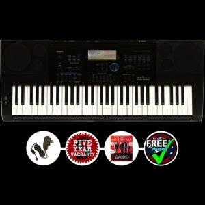 CASIO CTK6200 ARRANGER KEYBOARD PACK #1 BONUS USB + MP3 CABLE PACK, ADAPTOR
