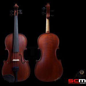 Gliga II 7/8 Size Violin Outfit Dark Antique finish with Pirastro Violino strings inc Case and Brazilwood Bow