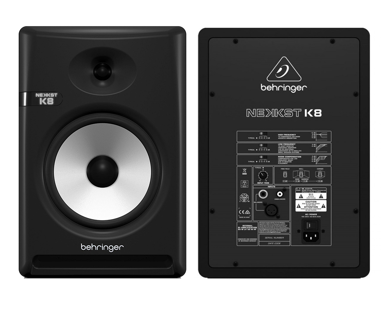 behringer nekkst k8 audiophile bi amped 8 studio monitor with advance pair south coast music. Black Bedroom Furniture Sets. Home Design Ideas