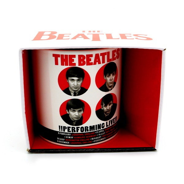 Official Licensed BEAT62MUG02 The Beatles Boxed Standard Mug Performing Live 1962